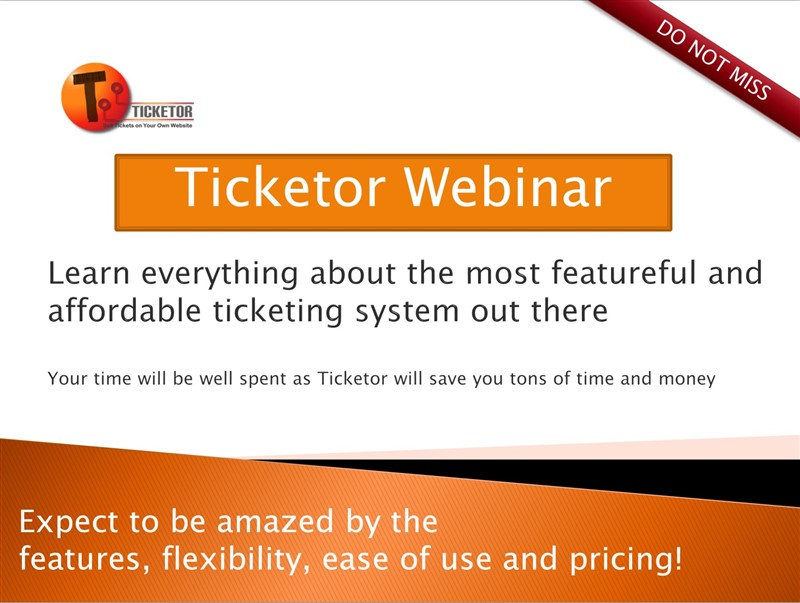 Get Information and buy tickets to Live Ticketor Webinar: Learn Everything About Ticketor + Q/A The most featureful ticketing system at unbeatable price on Ticketor