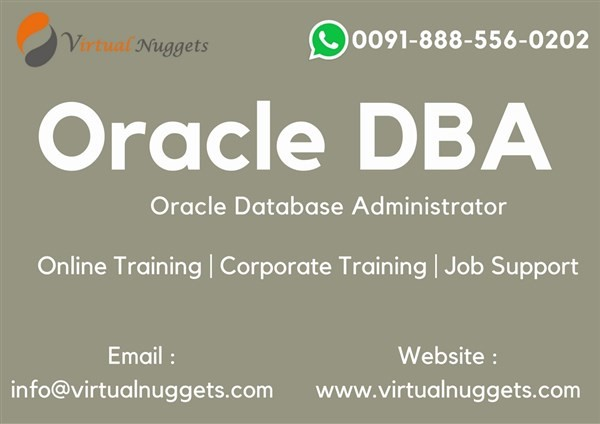 Get Information and buy tickets to Oracle DBA Online Training | VirtualNuggets  on Virtualnuggets