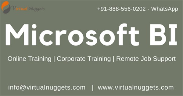 Get Information and buy tickets to Best Microsoft BI Online Training Institution  on Virtualnuggets