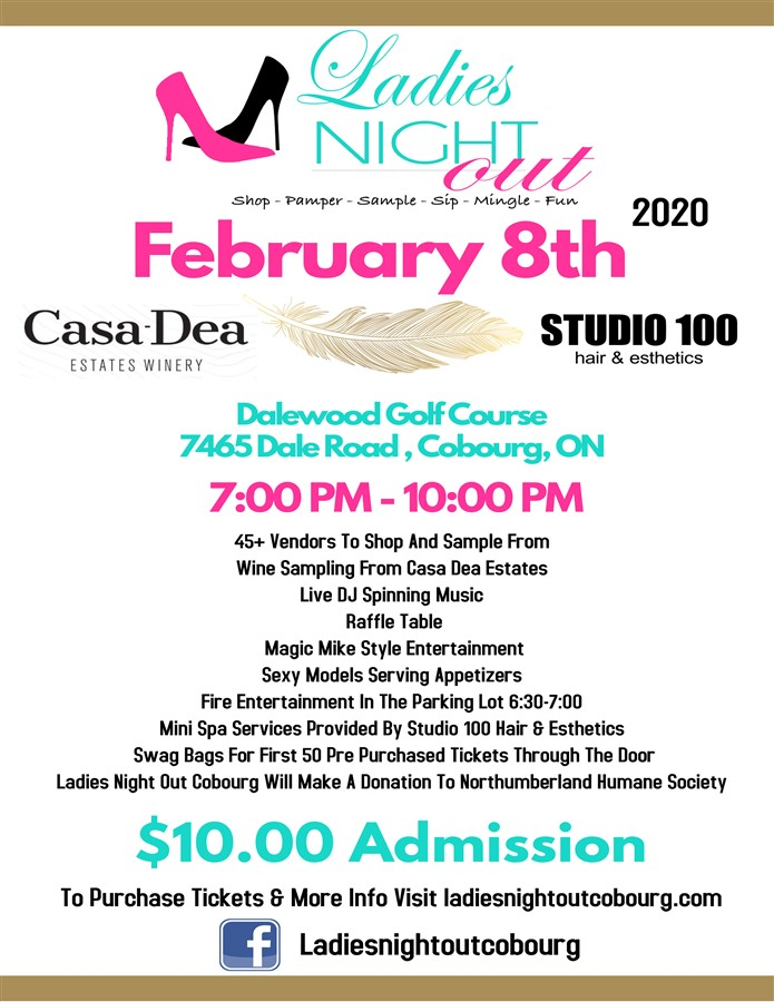 Get Information and buy tickets to Ladies Night Out Cobourg  on Ladiesnightoutptbo.com