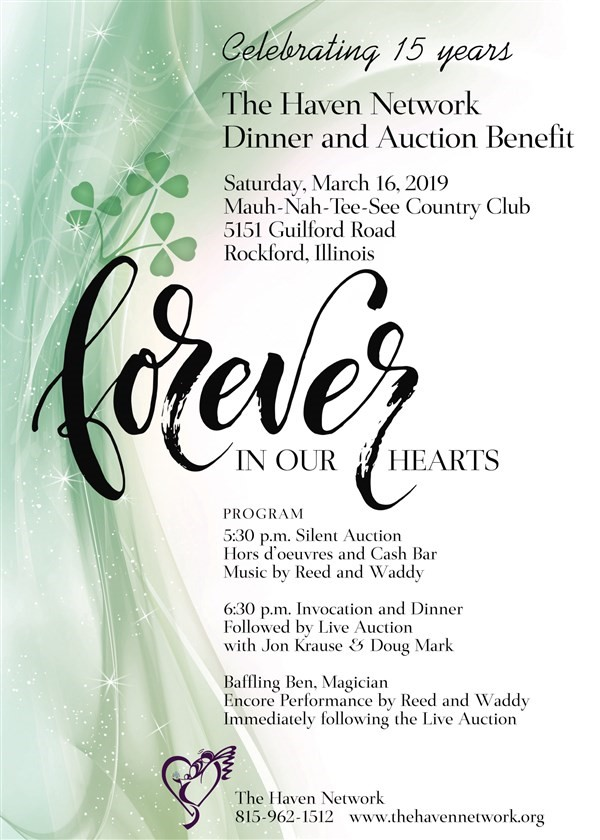 Get Information and buy tickets to Forever In Our Hearts Auction Benefit  on The Haven Network