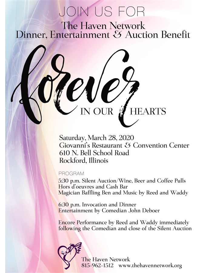 Get Information and buy tickets to Forever in our Hearts Benefit  on The Haven Network