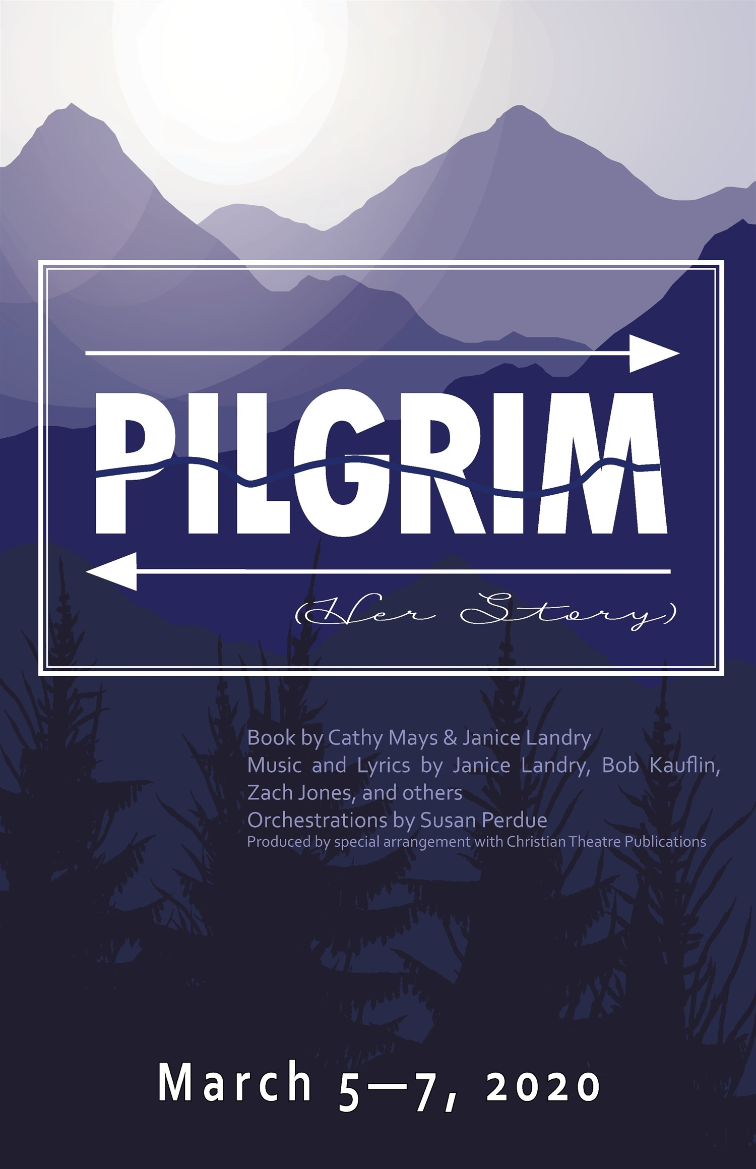 Pilgrim (Her Story) Thursday, March 5, 2020 @ 7:30 pm on Mar 05, 19:30@Spiritual Twist Productions - Pick a seat, Buy tickets and Get information on Spiritual Twist Productions tickets.spiritualtwist.com