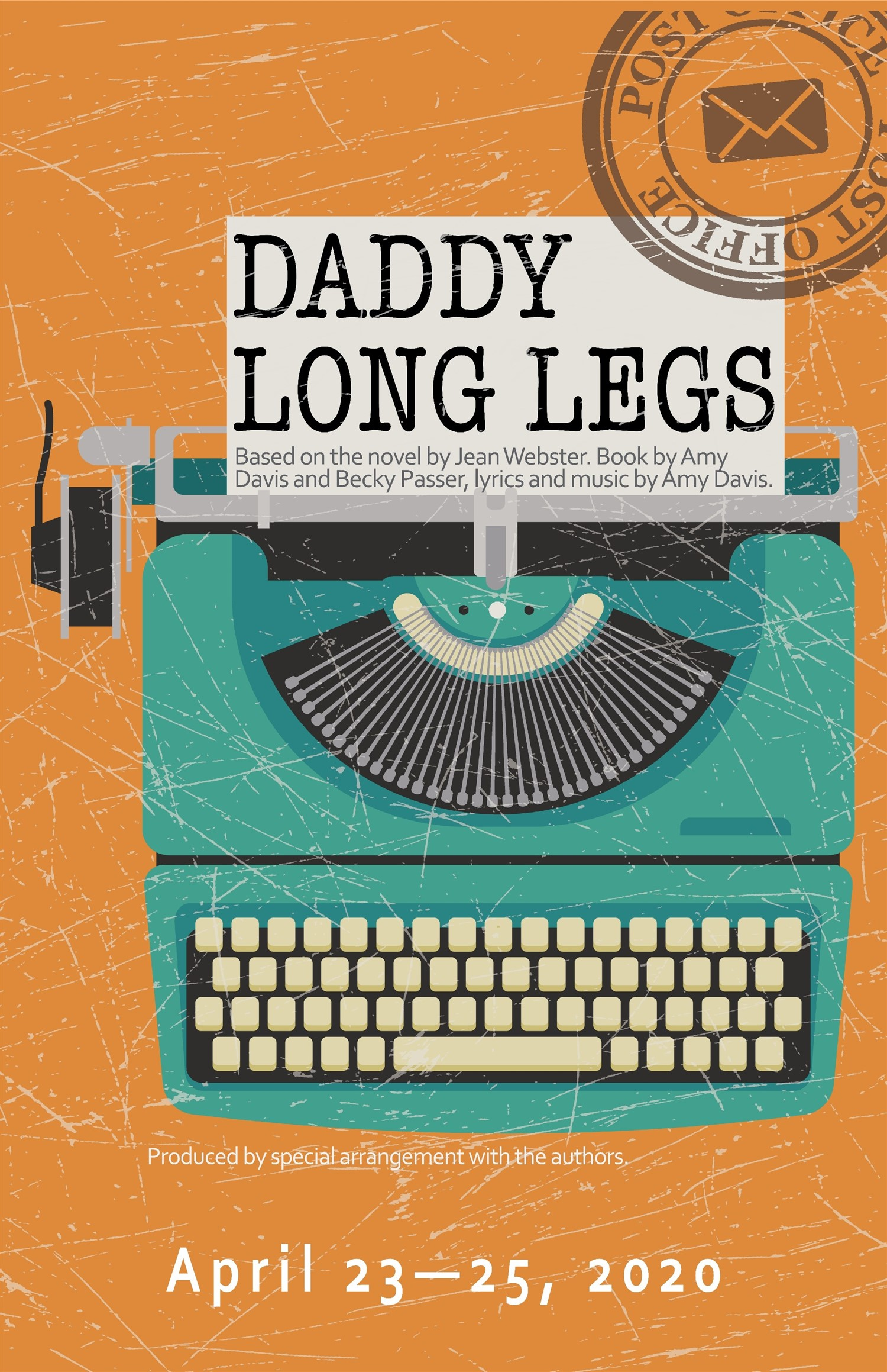 Daddy Long Legs Thursday, April 23, 2020 @ 7:30 pm on Apr 23, 19:30@Spiritual Twist Productions - Pick a seat, Buy tickets and Get information on Spiritual Twist Productions tickets.spiritualtwist.com
