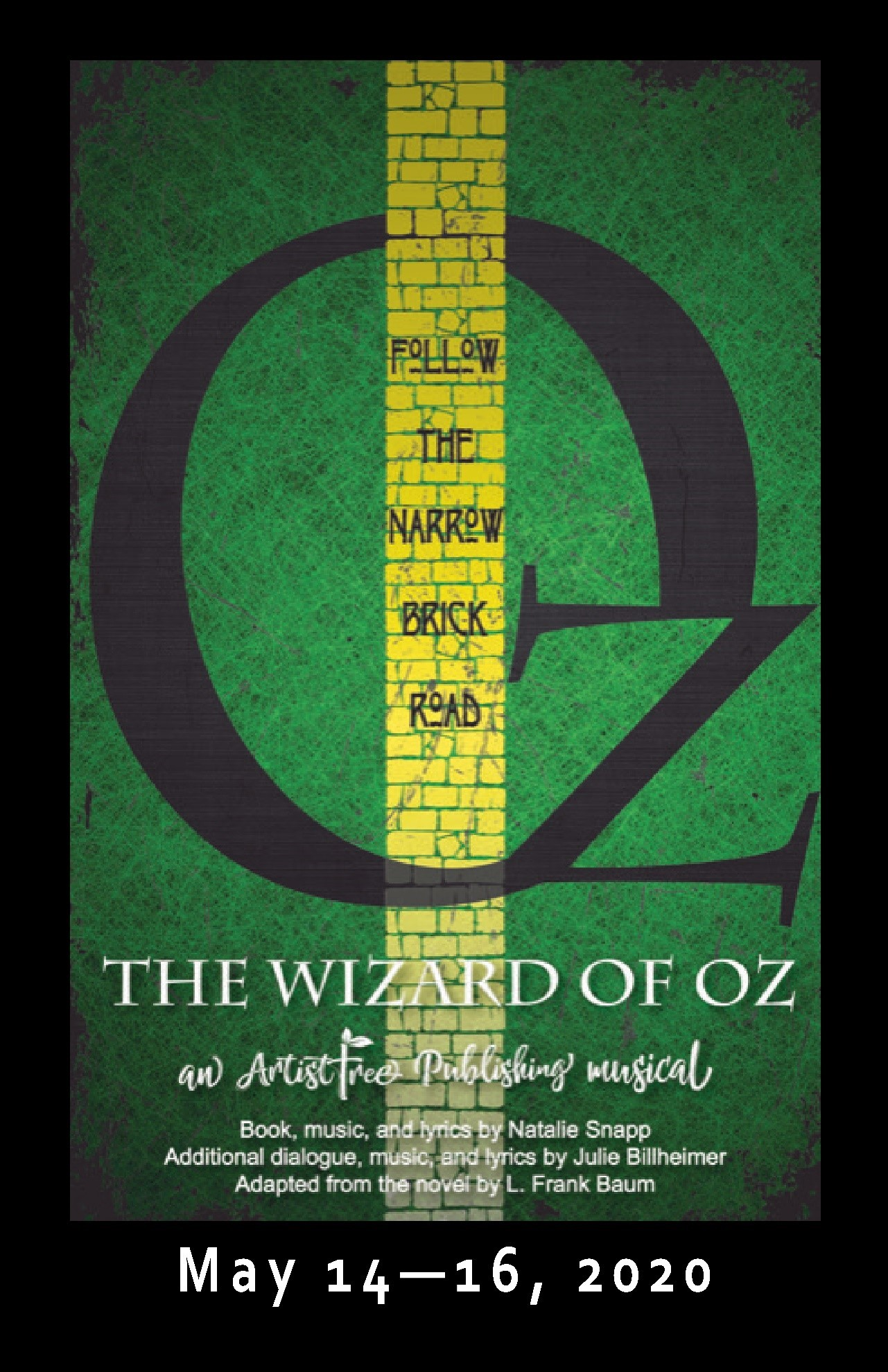The Wizard of Oz Saturday, May 16, 2020 @ 2:00 pm on May 16, 14:00@Spiritual Twist Productions - Pick a seat, Buy tickets and Get information on Spiritual Twist Productions tickets.spiritualtwist.com