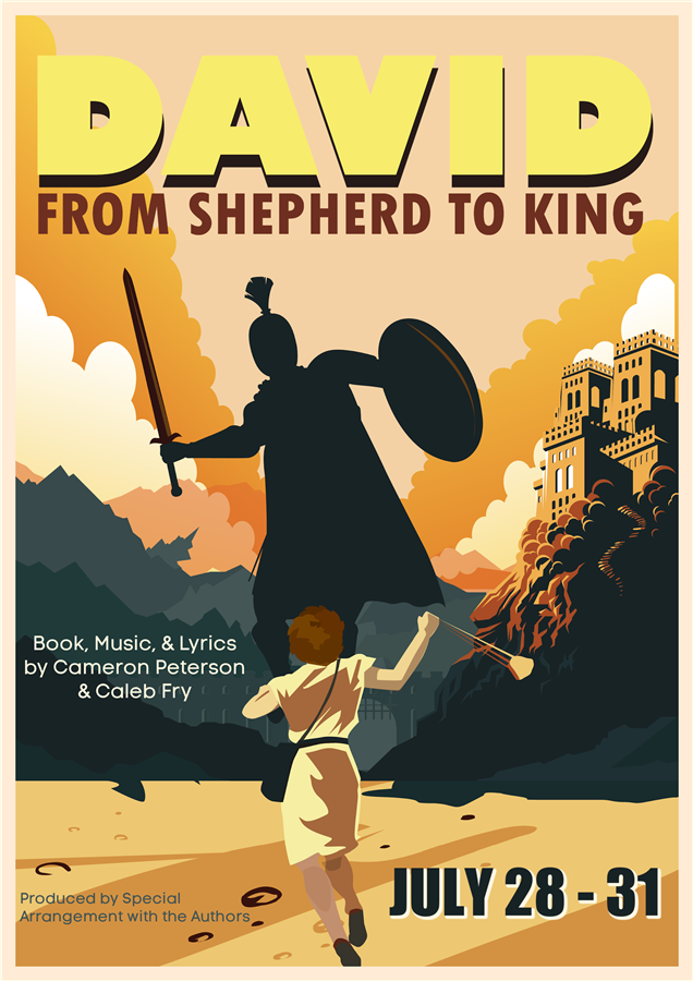 Get Information and buy tickets to DAVID, FROM SHEPHERD TO KING Saturday, July 31, 2021 @ 2:00 PM on Spiritual Twist Productions