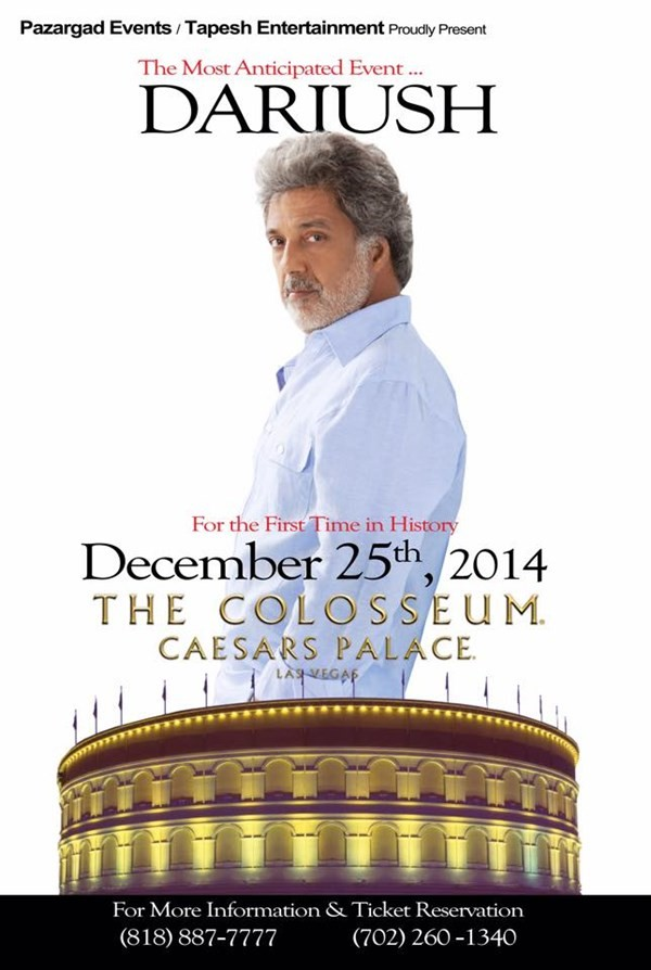 Get Information and buy tickets to DARIUSH  on Persian Media Group
