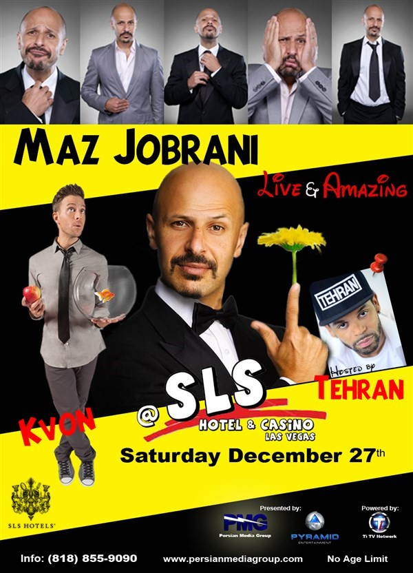 Get Information and buy tickets to Maz Jobrani  Live & Amazing  on Persian Media Group