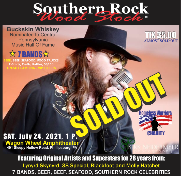 Philipsburg PA Southern Rock Wood Stock 2021  on jul. 24, 13:00@Wagon Wheel Amphitheater - Buy tickets and Get information on www.southernrockwoodstock.com southernrockwoodstock
