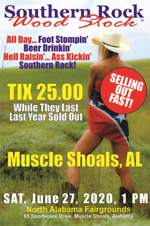 Get Information and buy tickets to Southern Rock Wood Stock Muscle Shoals, Alabama on www.southernrockwoodstock.com