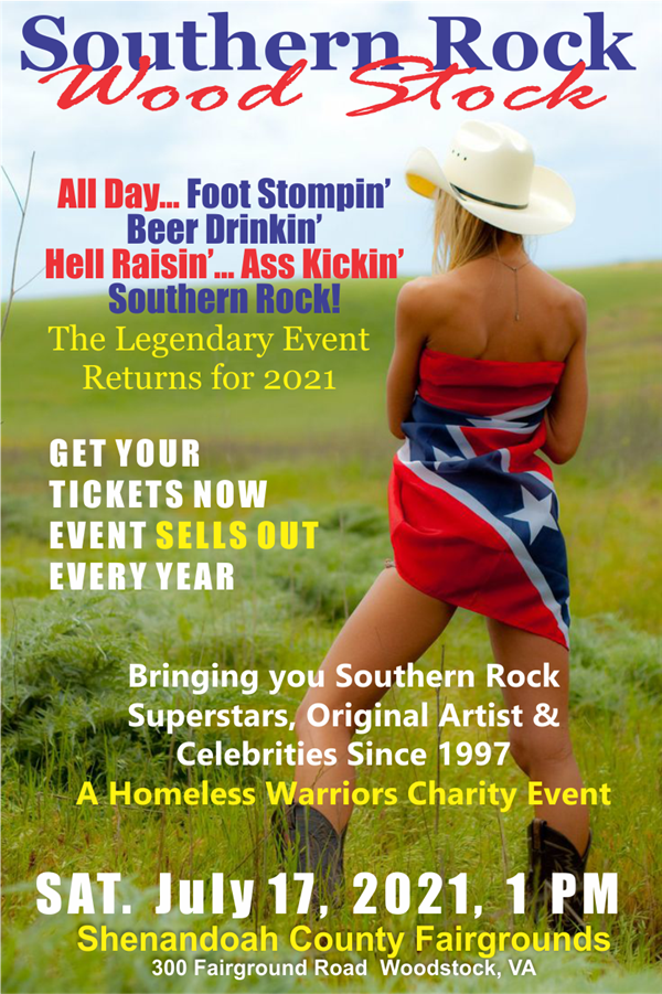 Get Information and buy tickets to Woodstock, VA Southern Rock Wood Stock 2021  on www.southernrockwoodstock.com