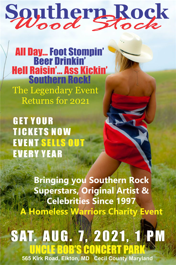 Get Information and buy tickets to Cecil County, MD Southern Rock Wood Stock 2021  on www.southernrockwoodstock.com