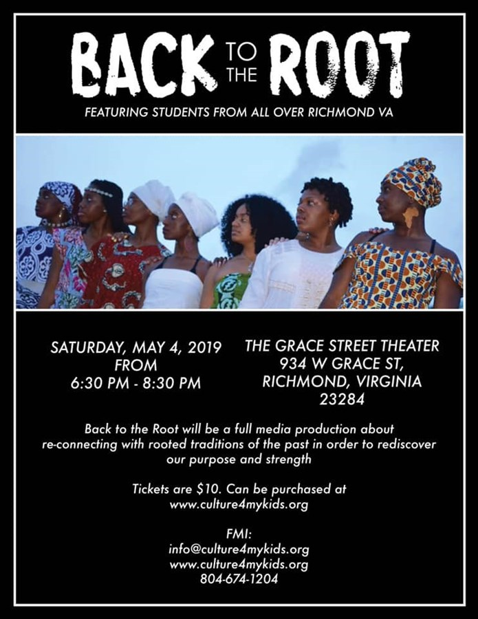 Get Information and buy tickets to Back to the Root  on Culture4mykidsInc