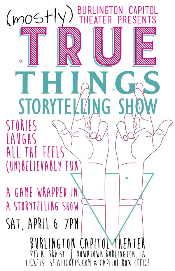 Get Information and buy tickets to (Mostly) True Things A Game Wrapped in a Storytelling Show on SEIA Tickets