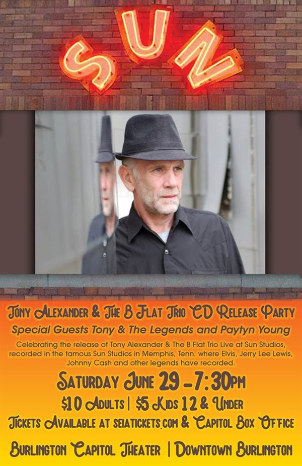 Get Information and buy tickets to Tony Alexander CD Release Party  on SEIA Tickets