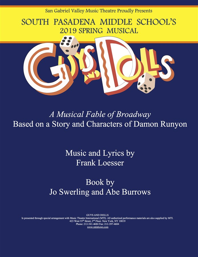 Get Information and buy tickets to GUYS AND DOLLS Strudel Cast on www.sgvmusictheatre.org