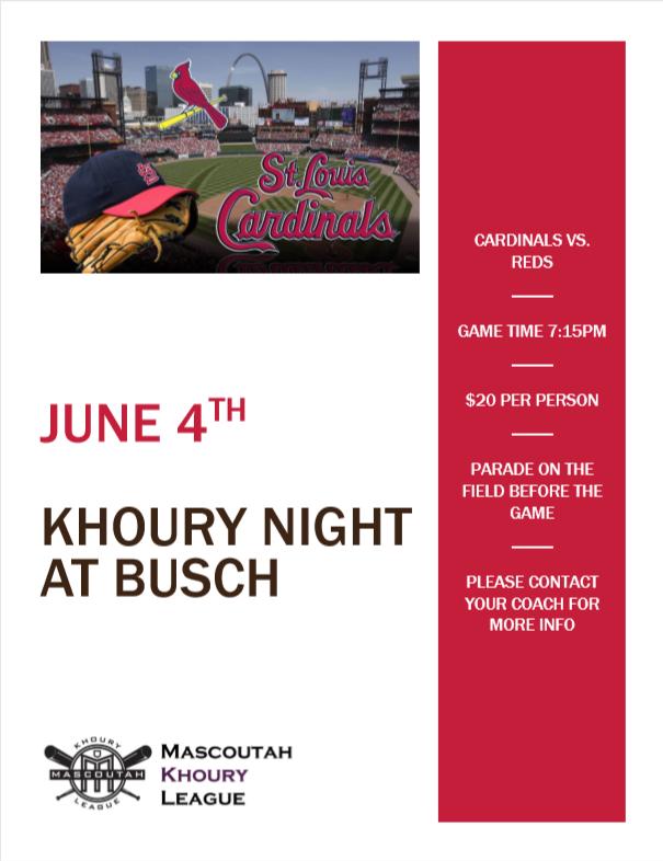 Mascoutah Khoury Night at Busch Stadium
