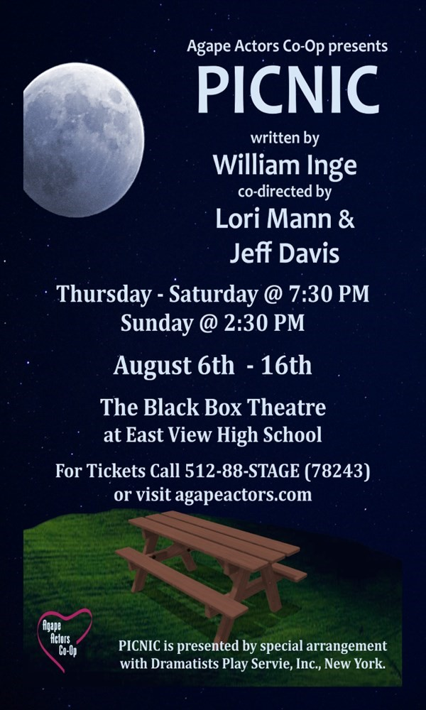 Get Information and buy tickets to PICNIC by William Inge  on Agape Theatre