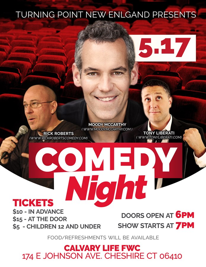 Get Information and buy tickets to Comedy Night  on Turning Point New England