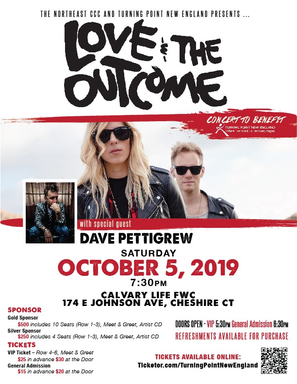 Get Information and buy tickets to Love & The Outcome w/special guest Dave Pettigrew  on Turning Point New England