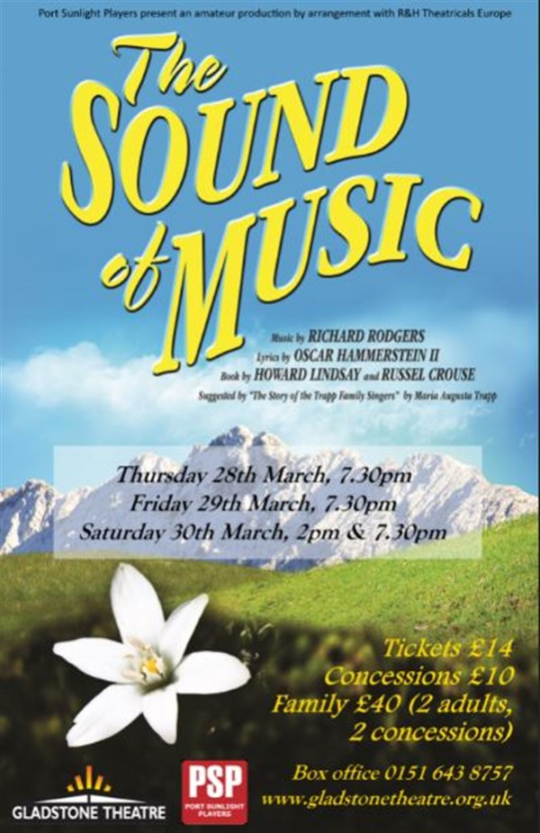 Get Information and buy tickets to The Sound Of Music  on gladstonetheatre.org.uk