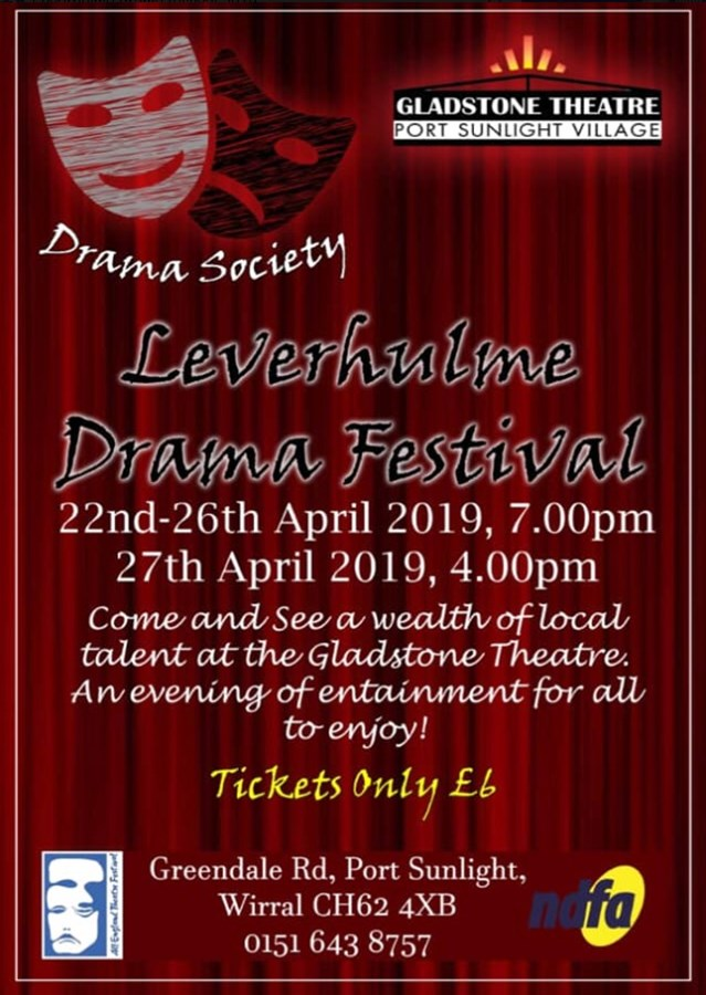Get Information and buy tickets to Leverhulme Drama Festival  on gladstonetheatre.org.uk