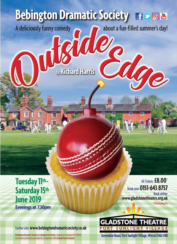 Get Information and buy tickets to Outside Edge  on gladstonetheatre.org.uk