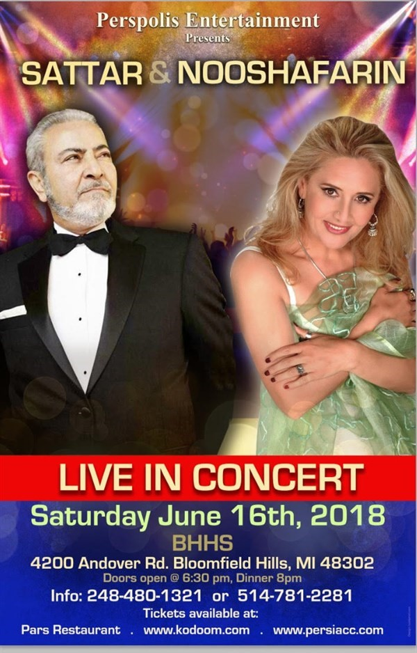 Get Information and buy tickets to Sattar & Nooshafarin Live In Michigan  on persiacc.com