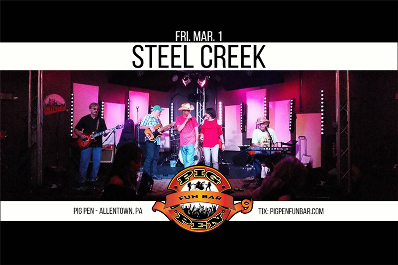 Get Information and buy tickets to Steel Creek on Main Stage on Pig Pen Fun Bar