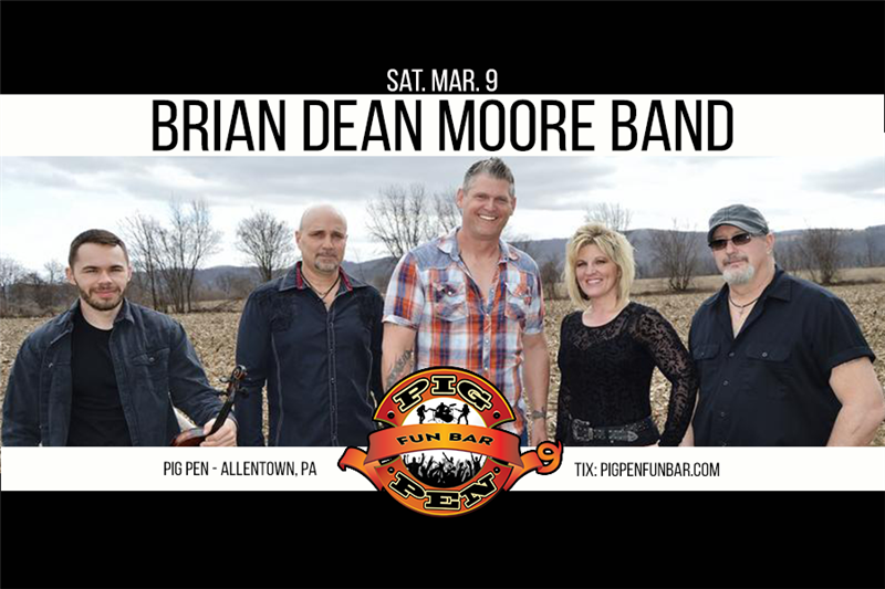 Get Information and buy tickets to Brian Dean Moore Band on Main Stage on Pig Pen Fun Bar