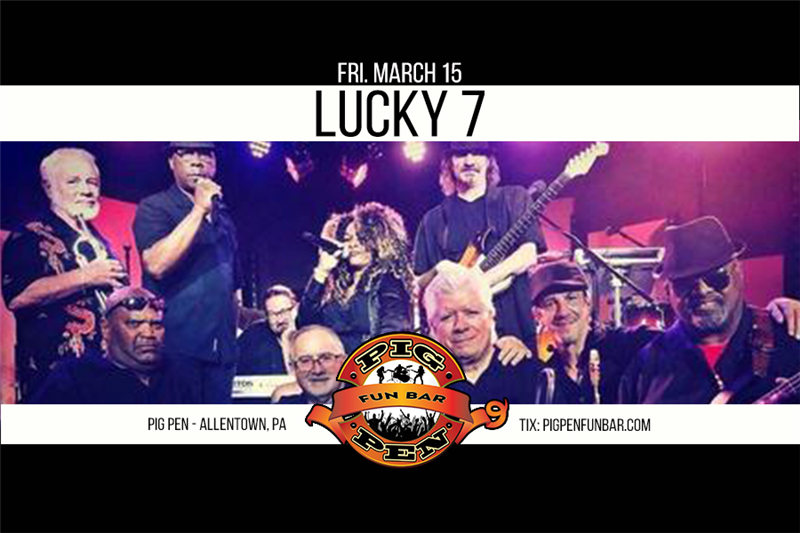 Get Information and buy tickets to Lucky 7 on Main Stage on Pig Pen Fun Bar