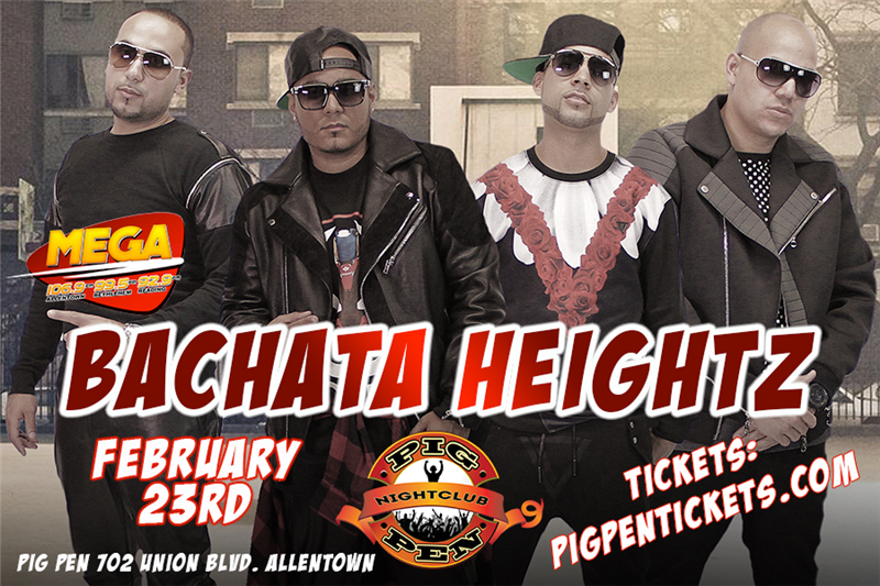 Get Information and buy tickets to Bachata Heightz in Event Center on Pig Pen Fun Bar