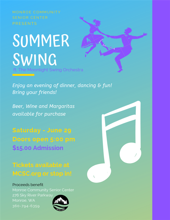 Get Information and buy tickets to Summer Swing  on Monroe Community Senior Center
