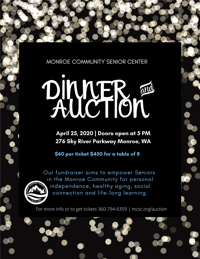 Get Information and buy tickets to MCSC Annual Auction 2020  on Monroe Community Senior Center