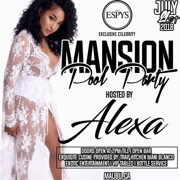 """Get Information and buy tickets to Espys Exclusive Celebrity Mansion Pool Party Hosted By NFL Jaguars """"Jaydon Mickens"""" on The Estate"""
