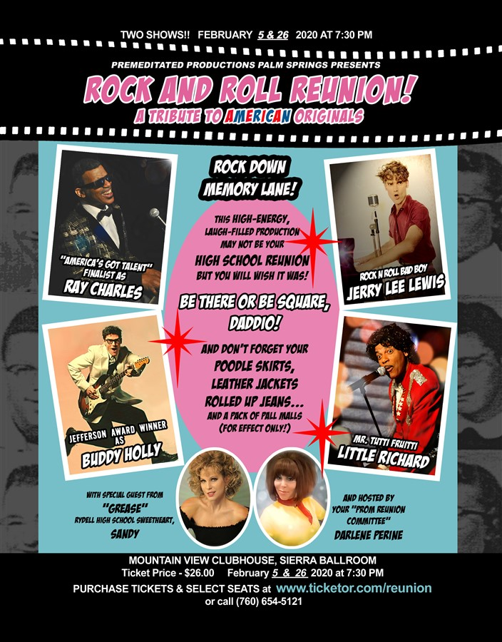 Get Information and buy tickets to ROCK N ROLL REUNION A Tribute To American Originals on www.ticketor.com/tributeshows