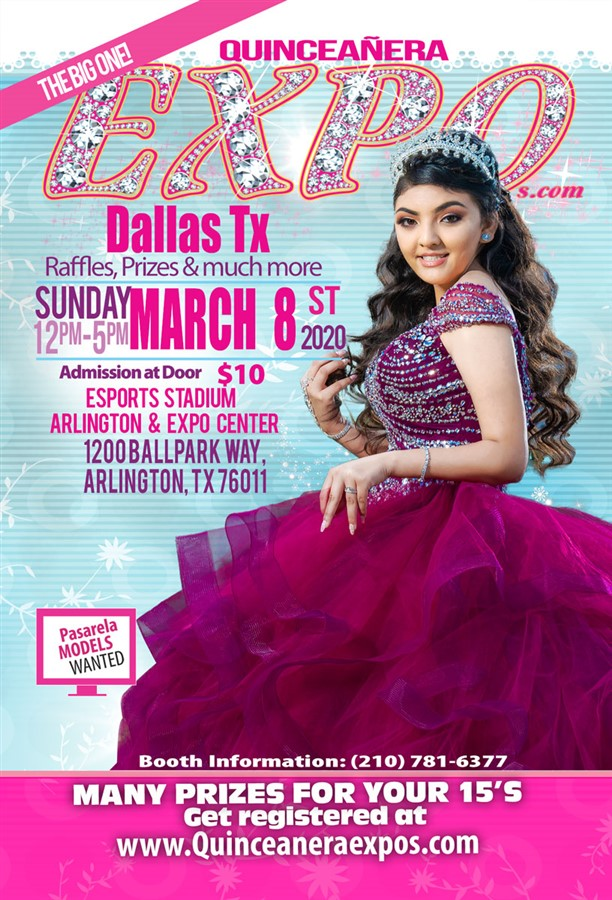 Get Information and buy tickets to Dallas Quinceanera Expo March 8th, 2020 at the Arlington Con  on Quinceanera Expo