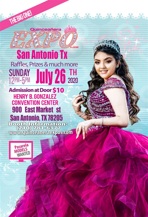 Get Information and buy tickets to San Antonio Quinceanera Expo July 26th 2020 At the Henry B.  on Quinceanera Expo