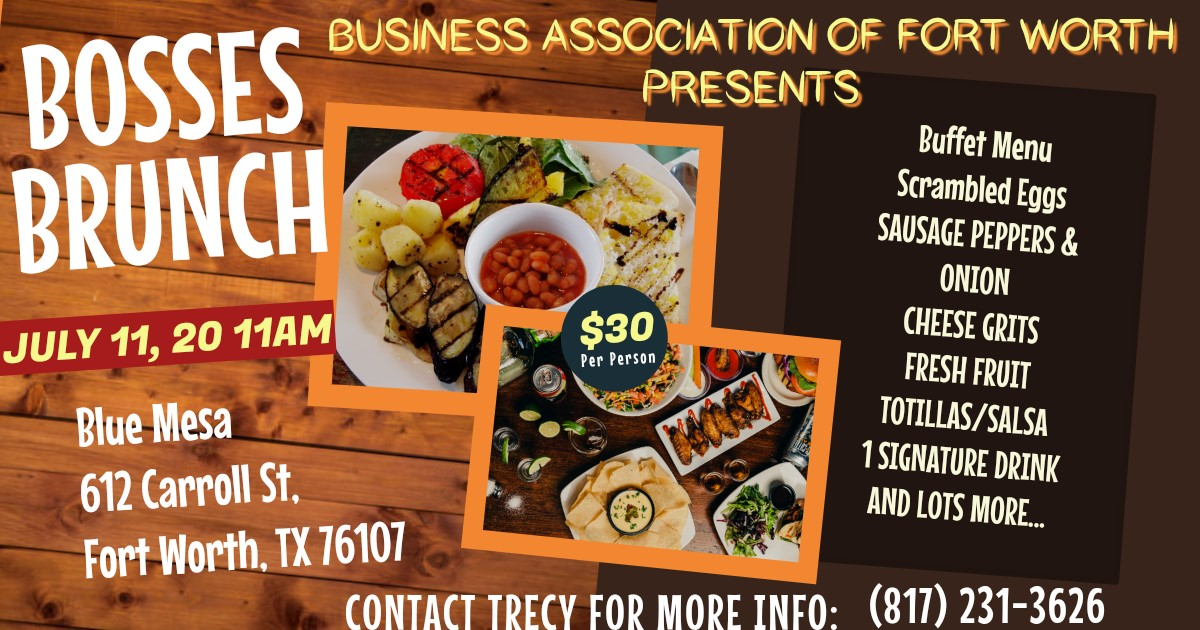 Bosses Brunch  on Jul 11, 11:00@Blue Mesa Grill - Buy tickets and Get information on