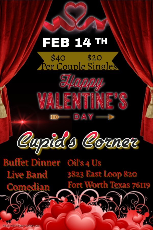 Cupid's Corner Valentine's Day Special on Feb 14, 19:00@Oils 4 Us - Buy tickets and Get information on