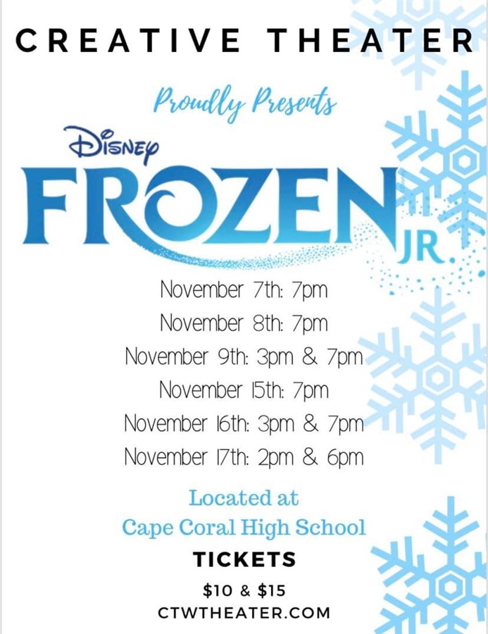 Get Information and buy tickets to Frozen Jr  on Creative Theater Workshop