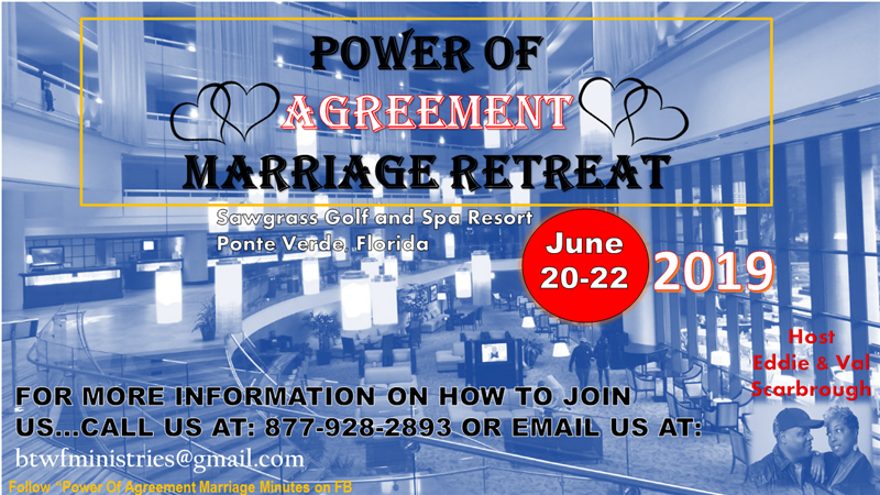 Get Information and buy tickets to Power of Agreement Marriage Retreat on Eddie and Val Scarbrough Ministry