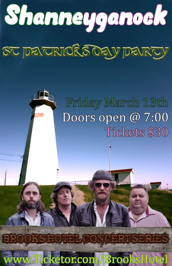 Get Information and buy tickets to BROOKS HOTEL CONCERT SERIES PRESENTS: SHANNEYGANOCK LIVE MUST BE 18 YEARS OF AGE OR OLDER TO ATTEND: DOORS OPEN AT 7P on Brooks Hotel
