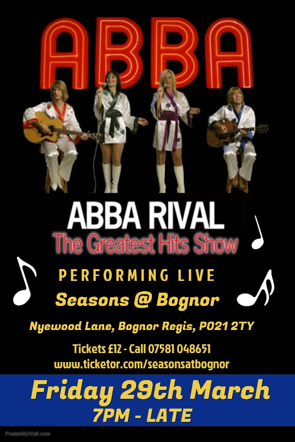 Get Information and buy tickets to ABBA RIVAL The Greatest Hits Show on Seasons At Bognor