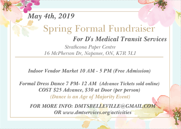 Get Information and buy tickets to DMTS Spring Formal Fundraiser For D