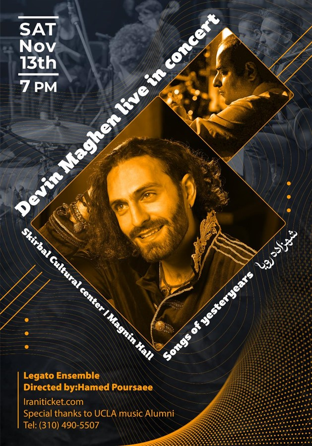 Get Information and buy tickets to DEVIN MAGHEN Songs of Yesteryears on Irani Ticket