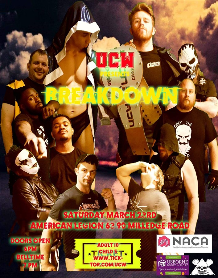 Get Information and buy tickets to BreakDown  on United Championship Wrestling
