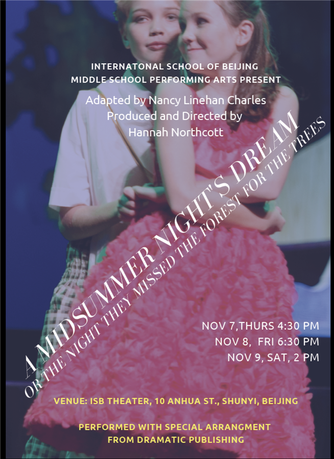 Get Information and buy tickets to A Midsummer Nights Dream or the Night they missed the Forest Adapted by Nancy Linehan Charles on http://isb.bj.edu.cn