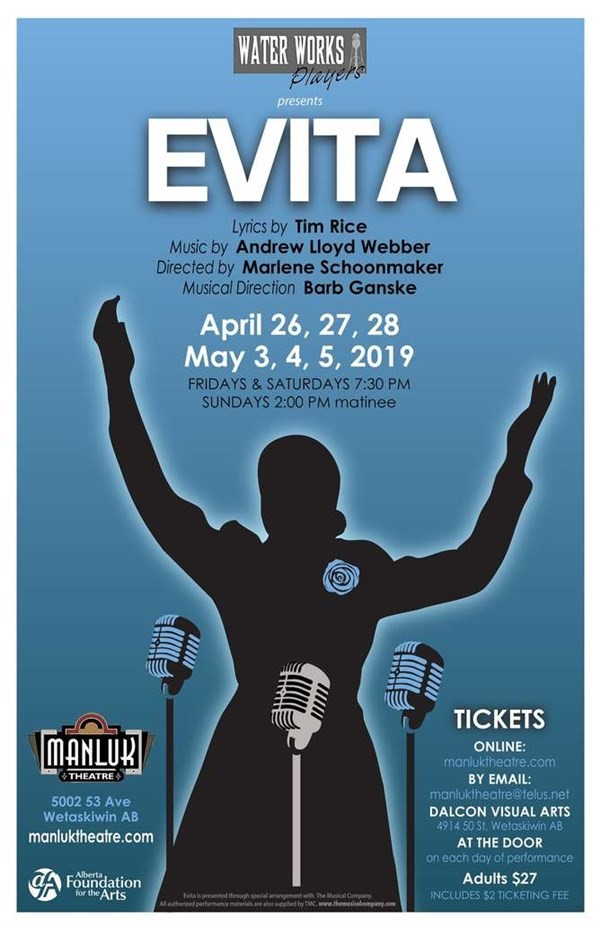 Get Information and buy tickets to Evita  on Manluk Theatre