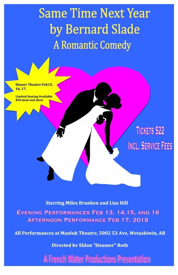 Get Information and buy tickets to Same Time Next Year A Romantic Comedy on Manluk Theatre
